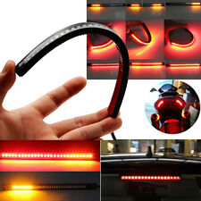 Motorcycle Flexible 48 LED DRL Strip Tail Brake Turn Signal Light For Suzuki