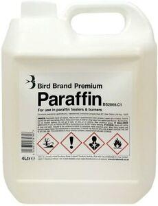 Bird Brand Premium Grade Paraffin Litre Kerosene Heater Lamp Oil Fuel 1L 4L 8L