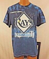 Tampa Bay Rays Unisex Tie Dye T Shirt MLB Blue Size Large Baseball