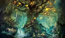 Home Art Wall Decor Fantastic World Tree Oil Painting Picture Printed On Canvas