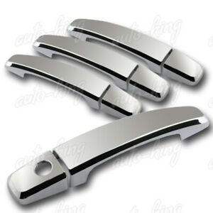 FOR CHEVY MALIBU CAMARO CRUZE SONIC MIRROR CHROME DOOR HANDLE COVER CAPS TRIM