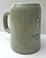 *Vintage GERZ™ GERMANY | Lowen Brau Munchen Beer Stein Mug Half Liter Stoneware