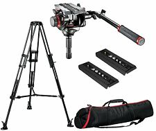 Manfrotto 546BK Video Tripod, 504HD Video Head 75, MBAG100PN Case + 2 QR Plates