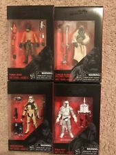 Star Wars The Black Series 3.75 Action Figures  Lot of 4 New in Box..MINT