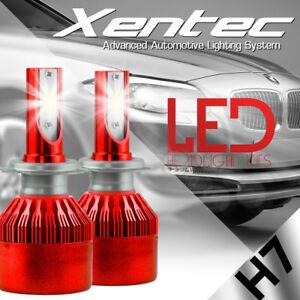 XENTEC 388W 38800LM H7 CREE LED Headlight Kit Bulbs 6000K White Low Beam 2x