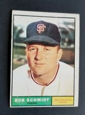 ORIGINAL1961 TOPPS SAN FRANCISCO GIANTS BASEBALL CARD #31 BOB SCHIMDT EXCELLENT