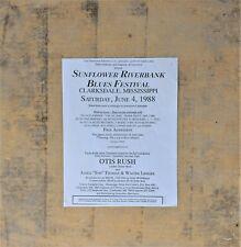 BLUES FLYER: 1st SUNFLOWER RIVERBANK BLUES FESTIVAL Clarksdale 1988 OTIS RUSH