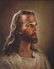 Head of Christ Print by Sallman - Material: Cardstock  Size: 3.5