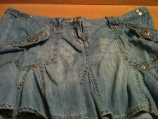 Light denim short skirt new look size 10 pretty corset detail to the back