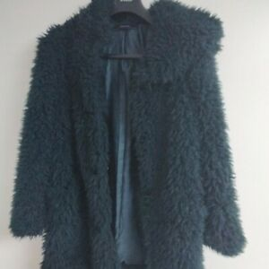 Dark Green Zara Faux Fur Coat