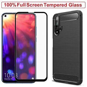 For Huawei Nova 5T Case Armor Cover + Tempered Glass Screen Film Huawei Nova 5T