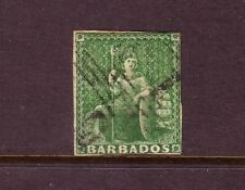 BARBADOS....  1852-55  4d brownish red, imperf, used....cv £275
