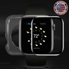 Tempered Glass Screen Protector Case Cover for Apple Watch Series 6 5 4 SE 44mm