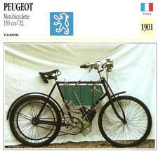 Carte Fiche Moto PEUGEOT Motobicyclette 150 cm3 ZL 1901 France