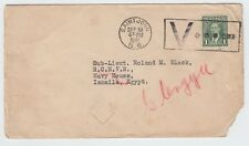 Printed matter to ** EGYPT ** 1c unsealed 1941 Canada cover very rare