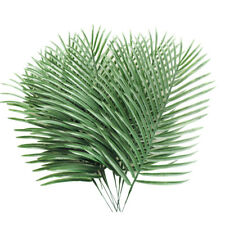 10 Pcs Artificial Palm Tree Faux Leaves Greenery Artificial Plant for Home Decor