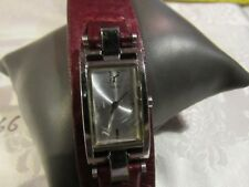 Guess Womens Watch RED Leather Cuff BAND F66