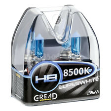 H8 box lámparas halógenas en óptica Xenon de gread Lights Super White 8500k 35w