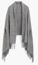 NEW J.CREW Womens Versatile Poncho Cape Scarf Shawl Wrap Glen Plaid Wool Bld NWT