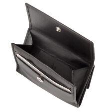 DV Portafoglio in pelle piccolo da uomo di colore NERO con carte di credito