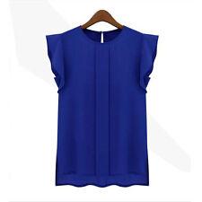 New Fashion Women Casual Sleeveless Vest Tank Tops Loose Chiffon T Shirt Blouse