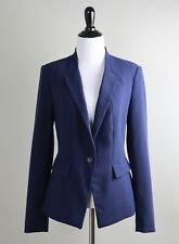 WHITE HOUSE BLACK MARKET $140 Classic One Button Lined Navy Blazer Top Size 6