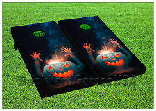 Vinyl Wraps Cornhole Boards Decals Halloween Time Bag Toss Game Stickers 700