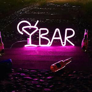 LED Letter Number Lights Sign Light Up Night Light Bar Party Decor Lamp