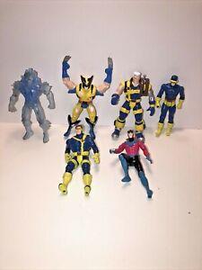 """X-men Action figures lot (6) Wolverine, Cyclops 5"""" figures"""