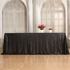 3E Home 60×120'' Rectangle Sequin TableCloth for Party Cake Dessert Table