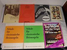 Konvolut Sammlung Notenhefte für elektronische Orgel z. B. Farfisa Windsor