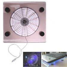 Laptop Mute USB Air Cooling Big Fans Cooler Pad Stand LED Light For PC Notebook