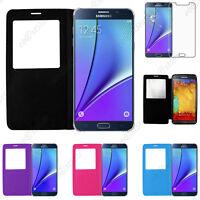 Housse Coque Etui L-View PU Cuir Samsung Galaxy Note 5 4 3 N9000 Lite N7505