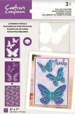 "Crafter's Companion ~ Layering Stencils ~ 3 piece ~ 5x7""  ~ Full of a Flutter"