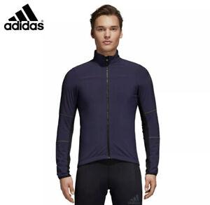 Adidas Mens $200 Climaheat Cycling Winter Jacket Reflective BR7813 Navy Small S