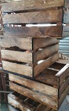 Cassette casse della frutta in legno anticate  cerate robuste 50x30x27 peso 2 kg