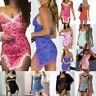 Women Lace Trim Printing Party Cami Dress Egirl V Neck Mini Bodycon Clubwear Dre