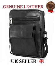 ODS UK Mens Real Leather Travel Shoulder Man Bag Cross Body Messenger