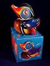 Ancien jouet mécanique tôle + boîte Canard MAMA PAAK LEHMANN W.Germany an. 60