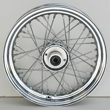 Chrome Ultima 40 Spoke Front 16x3.5 Wheel for Harley Softail and FXDWG 1984-1999