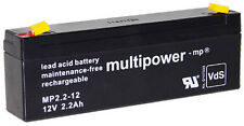 1x Multipower Bleigel Akku 12V/2,2Ah MP2.2-12 NP2.3-12 LC-R122R2PG FG20201