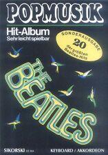 Pop Musik Hit Album super 20 The Beatles Noten für Akkordeon O. Keyboard leicht