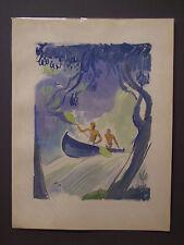 MILIVOJ UZELAC Les Joies du Sport CANOA, litografia e pochoir, 1932