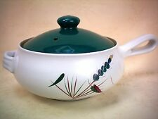 Denby Greenwheat 2 Pint Handled Covered Casserole Vegetable Serving Dish