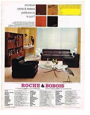 PUBLICITE  1969   ROCHE & BOBOIS  meubles