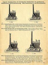 Modell-Dampfmaschinen von 1/15 PS-Kraftleistung Historische Reklame von 1909