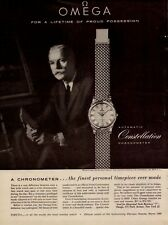 1959 Chronometer Automatic Constellation Omega Watch Vintage Photo Print Ad