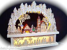 3d LED ARCOS DE LUCES arbotantes con iglesia + PEDESTAL sub-banco 44x40 cm 10012