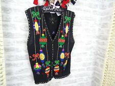 Vintage Christmas cardigan cotton ramie BOBBIE BROOKS baubles size M/L PB368