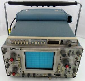 Tektronix 475 Oscilloscope with DM 44, Screens Lens, Manual for Parts or Repair
